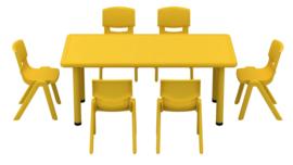 Dumi rechthoekige tafel - geel