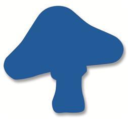 Jumbo - Plakfiguur paddenstoel 200st assorti
