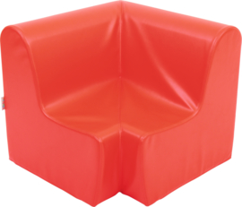 Medium hoekbank 58,5cm zithoogte 26 cm -  Rood