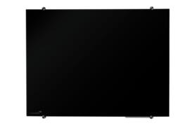 Coloured glasbord 60 x 80 cm zwart