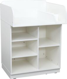 Quadro kast met aankleedmeubel - wit