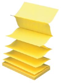 Memoblok 3M Post-it Z-Notes 76 x 127 mm. geel