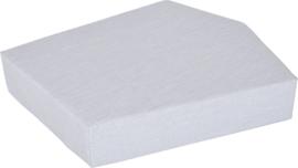 Quadro 2 matras  licht grijs, hoogte 20 cm