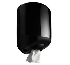 Dispenser Satino Black Midi voor poetsrollen