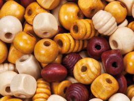 Houten kralen 500 gram naturel