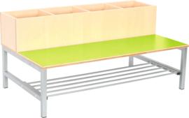 Flexi combibank 4, zithoogte 26 cm., groen