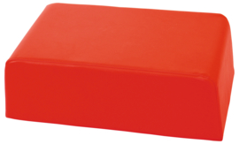 Kleine zachte tafel poef hoogte 24cm - rood