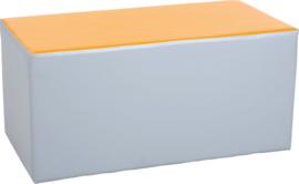 Wachtruimte zitje  40x40x80cm - Grijs/oranje