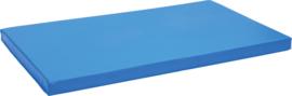 Anti slip matras Afm. 150 x 90 x 8 cm blauw