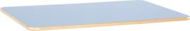 Rechthoekig Flexi tafelblad 120x80cm blauw los