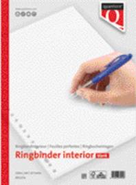 100 vel ringbandblaadjes Interieur Quantore A4 23-gaats blanco
