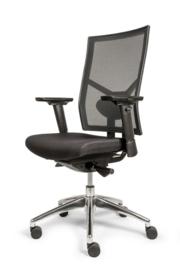 "Bureaustoel ""Perfect"" mesh rug zwart"