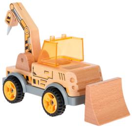 Houten graafmachine-bulldozer om te monteren