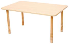 Rechthoekige tafel met dik tafelblad