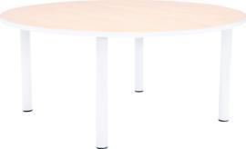 Ronde Quint-tafel 90 cm met witte rand 40-58cm