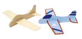 Vliegtuigjes  hout  22 x 6 cm 12 stuks