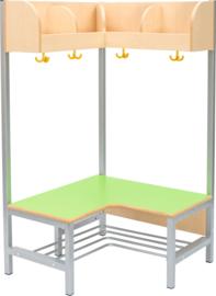 Flexi hoekgarderobe 4, zithoogte 26 cm., groen