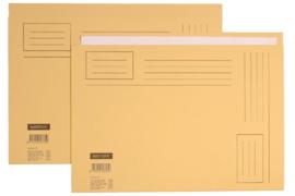 50x Vouwmap Quantore A4 ongelijke zijde 230gr beige