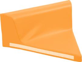 Driehoekig zitje met rugleuning - oranje