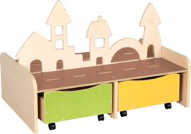 Stad-speelplaats met bakken