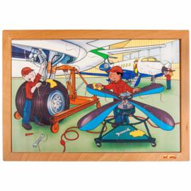 Puzzel techniek vliegtuigen