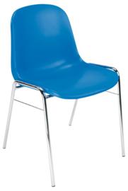 Stoel BETA Chroom, blauw