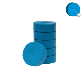 Colorall verfblokken Ø 5,5 cm 6 dlg - Lichtblauw