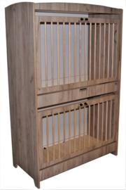 Duoslaper kantelhek zelfsluitslot -  Grey Craft Oak