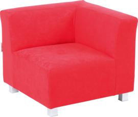 Flexi hoekbank, zithoogte 25 cm,  rood