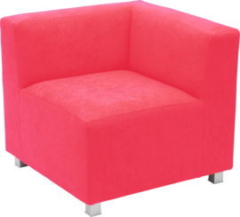 Flexi hoekbank, zithoogte 35 cm,  rood