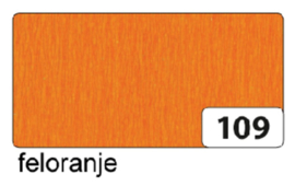 Crepepapier  250x50cm nr109 feloranje