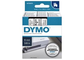 Labeltape Dymo 40910 D1 720670 9mmx7m zwart op transparant