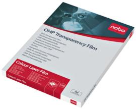 Overheadprojector transparanten Nobo voor kleurenlaserprinters 50 stuks