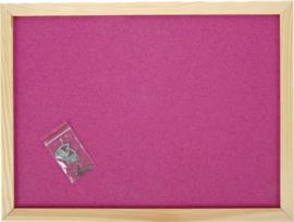Prikbord 100 x 150 cm - roze