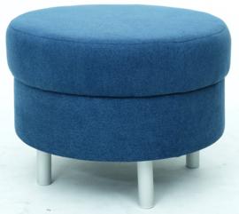 Ronde relaxpoef marineblauw - ronde poten