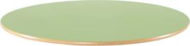Rond Flexi tafelblad 120cm groen los