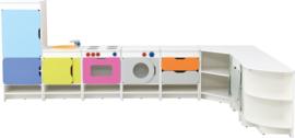 Keuken Quadro L-vorm 199,4x184,6cm - Wit