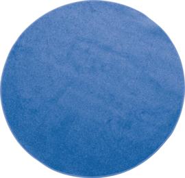 Rond tapijt - diam. 100 cm - blauw