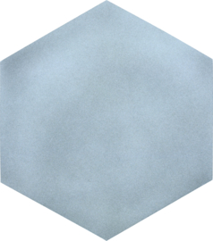 Geluiddempende zeshoek - mist, 20 mm