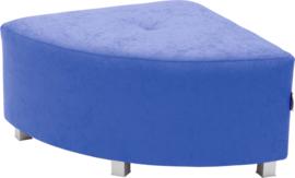 Flexi hoekbank, zithoogte 35 cm,  blauw