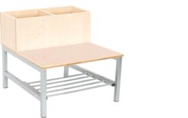 Flexi combibank 2, zithoogte 35 cm, esdoorn