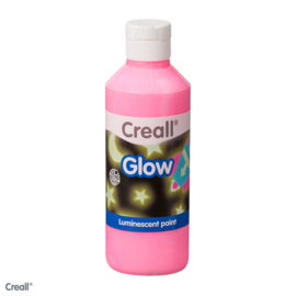 Plakkaatverf Creall glow in the dark 250 ml. roze