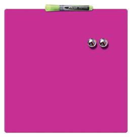 Whiteboard Rexel 36x36cm roze magnetisch