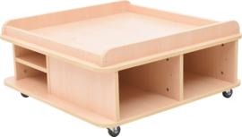 Vierkante tafel voor mat - laag