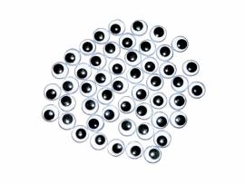 Wiebeloogjes 50 stuks 8 mm.