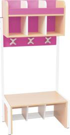 School garderobe Butterfly 3 - roze