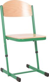 Len stoel met instelbare hoogte - maat 3-6 groen