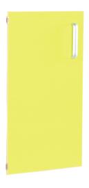 Deur voor smalle kast Flexi en kast M met scheidingswand links - lime