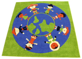 Tapijt 200x200cm - kinderen van de wereld