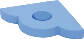 Foam driehoek dik 60x60x10cm - Blauw